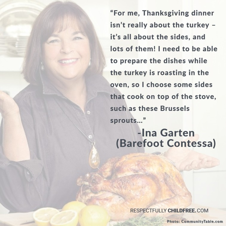 Ina Garten with turkey